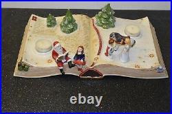 Villeroy und Boch Weihnachtsbuch aus Porzellan mit Spieluhr