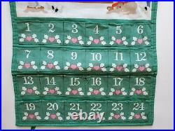 Vintage 1987 Avon Christmas Countdown Advent Calendar NO Mouse Santa & Mrs Claus