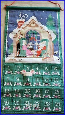 Vintage AVON 1987 Countdown to Christmas Advent Calendar WITH MOUSE Hanging
