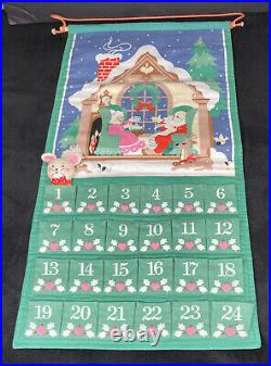 Vintage Avon 1987 Christmas Advent Calendar WITH Mouse 12.5 x 24 Free Ship