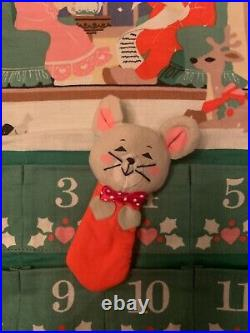 Vintage Avon Christmas Countdown Advent Calendar, With Original Mouse, 1987