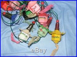 Vintage Christmas Lights Plastic Chinese Japanese Eastern Lanterns Pagoda Rare