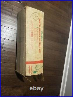 Vintage Evergleam Mid-century Modern 7 Ft Aluminum 100 Branch Christmas Tree