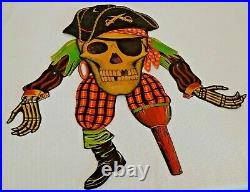 Vintage Halloween Cardboard Decoration Early Beistle DieCut Jointed Pirate 27'
