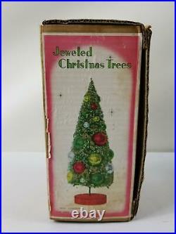 Vintage Holt-Howard Bottle Brush Jeweled Christmas Tree with Original Box