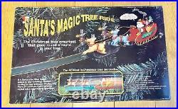 Vintage Santa's Magic Tree Ride Electric Christmas Tree Ornament Train Track