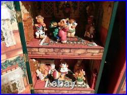 Vintage Studio Nova Christmas Teddy Bear Doll House Action/Lights Music Box MIB
