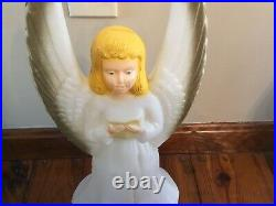 Vintage Table Top Empire Blow Mold Nativity Lighted Christmas 10 piece