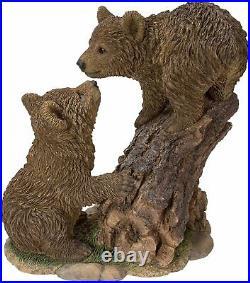 Vivid Arts Playful Bear Cubs Resin Home or Garden Decoration RL-PF15-B
