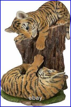 Vivid Arts Playful Tiger Cubs Resin Home or Garden Decoration RL-PF17-B