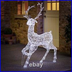 Wilko LED Light Up Reindeer Large 125cm Brand New In Box Sealed