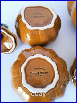 Williams Sonoma Pumpkin & Gourd Large Soup Serving Tureen with4 Bowls Set NEW