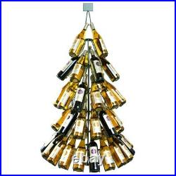 Wine Bottle Christmas Tree Rack