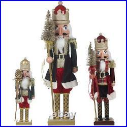 Wooden Look Christmas Nutcracker Soldier Party Decorative Ornament Nut Cracker