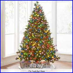 World's Best Prelit LED Noble Fir 12' Green/Multicolor Light Full Christmas Tree