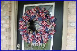 XL Patriotic 4th of July Country Truck Farmhouse Front Door Wreath Home Decor