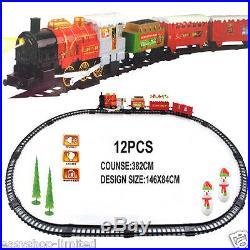 XL Santa Holiday Express Christmas Train Set, Tree Train Station & 4 Carriages