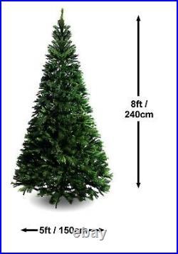 Xmas Christmas Tree 8ft 240cm Colorado Pine Hinged Indoor Bushy Best Artificial