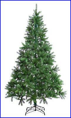 Xmas Christmas Tree Premium 6ft Hinged Indoor Realistic PE Tips Best Artificial
