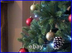 Xmas Christmas Tree Premium 8ft Hinged Indoor Realistic PE Tips Best Artificial