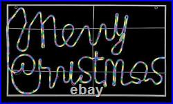 Xmas Decoration Merry Christmas Neon Light 960 LEDs- 1.05x0.6m In/Outdoor