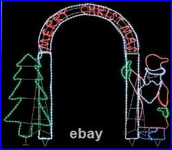 Xmas Decoration Santa with Tree Large Archway Merry Christmas Message Outdoor