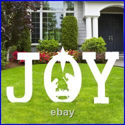 Yard Signs Stakes Christmas Joy Nativity Scene Decorations Outdoor Xmas Decors